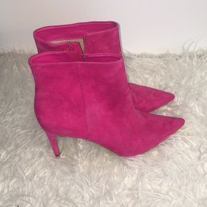 SAM EDELMAN Hot Pink Booties with Heel! Size 8.5